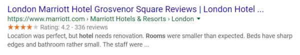 hotel structured data