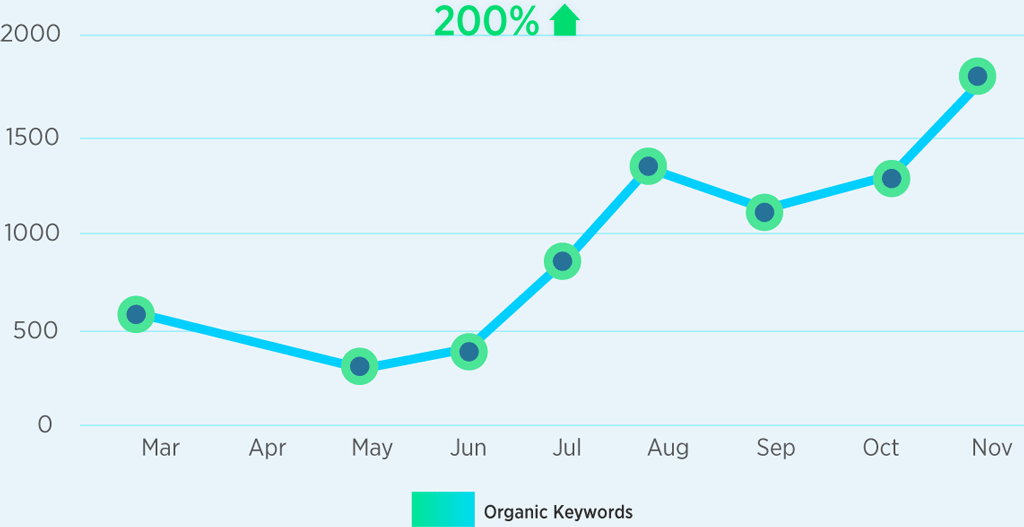 Organic Keyword Growth Graph