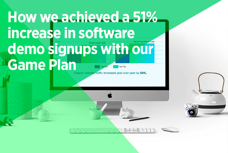 How we achieved a 51% increase in software demo signups with our SEO game plan